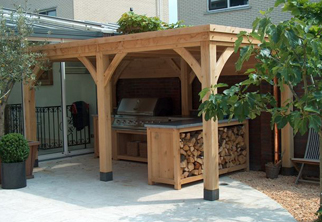 Buitenkeukens op maat for Foto op hout maken eigen huis en tuin